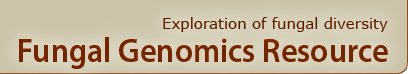 banner with a name of Fungal Genomics program